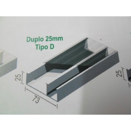 Duto Duplo 25 Cinza Tipo Septo Direito s/ Tampa